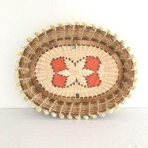 Shell Wicker Bread Basket
